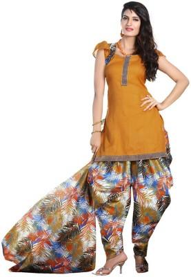Family Shop Cotton Printed Kurta & Patiyala Material