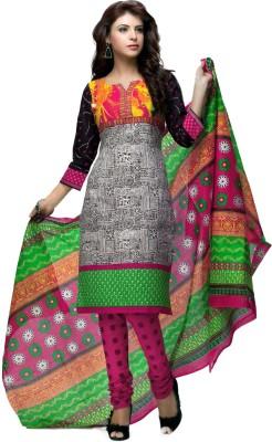 Angel Cotton Printed Semi-stitched Salwar Suit Dupatta Material