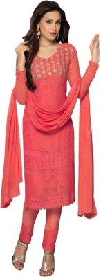 JKV Chiffon Embroidered Salwar Suit Dupatta Material