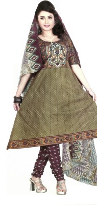 RSfantasea Cotton Printed Salwar Suit Dupatta Material