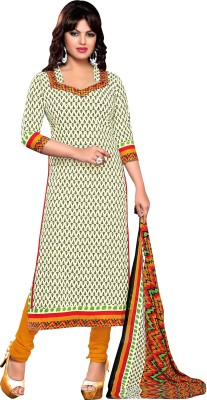 Awesome Cotton Self Design Salwar Suit Dupatta Material