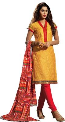 Hitansh Chanderi Printed Salwar Suit Dupatta Material