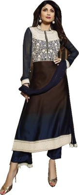 Jabudi Creation Georgette Embroidered Semi-stitched Salwar Suit Dupatta Material