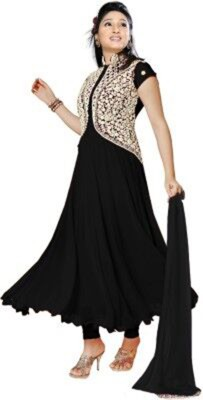 Shoppingekart Georgette Embroidered Semi-stitched Salwar Suit Dupatta Material