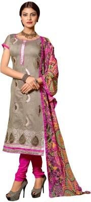 Anjnee Chanderi Embroidered Salwar Suit Dupatta Material