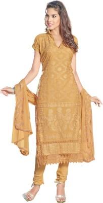 Suitevilla Chiffon Self Design Semi-stitched Salwar Suit Dupatta Material
