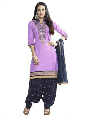 Jaamso Royals Cotton Embroidered Salwar Suit Dupatta Material