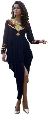 Jassu Fashion Hub Georgette Self Design Kurti Fabric