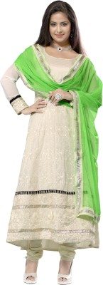 Florence Synthetic Georgette Self Design Salwar Suit Dupatta Material
