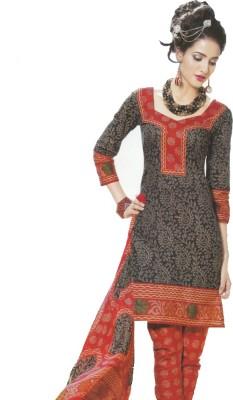 GLOBLOOM Cotton Floral Print Salwar Suit Dupatta Material