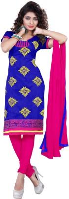 Khoobee Chanderi Self Design, Embroidered Salwar Suit Dupatta Material