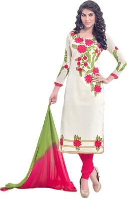 Prachi Silk Mills Chanderi Embroidered Salwar Suit Dupatta Material