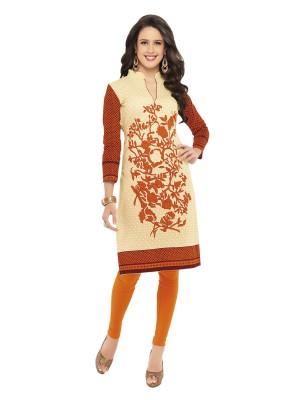 Hrinkar Cotton Printed Kurti Fabric