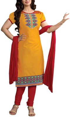 SS Retail Georgette Embroidered Salwar Suit Dupatta Material