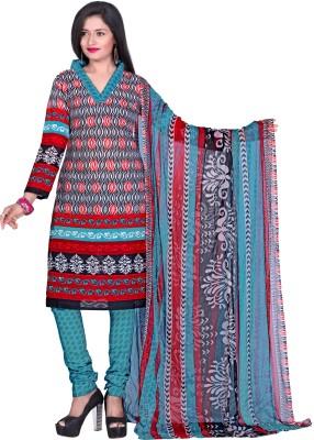 Jiya Cotton Printed Dress/Top Material