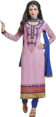 Ecoco Fashion Cotton Embroidered Semi-stitched Salwar Suit Dupatta Material