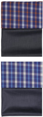 sahyog Synthetic, Cotton Polyester Blend Checkered, Self Design Shirt & Trouser Fabric