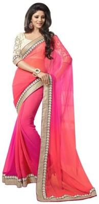 FastColors Embriodered Bollywood Georgette Sari