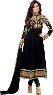 FabFuniya Georgette Embroidered Semi-stitched Salwar Suit Dupatta Material