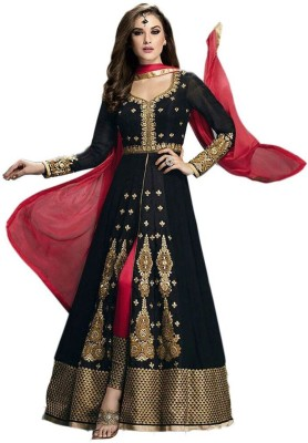 Buyzzaronline Georgette Embroidered Semi-stitched Salwar Suit Dupatta Material