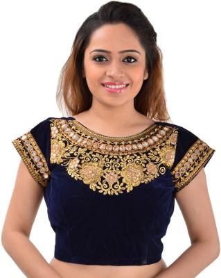 Panchi Velvet Embroidered Blouse Material
