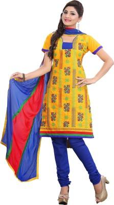 Minu Suits Cotton Embroidered Salwar Suit Dupatta Material