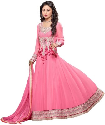 Kaypm Georgette Embroidered Dress/Top Material