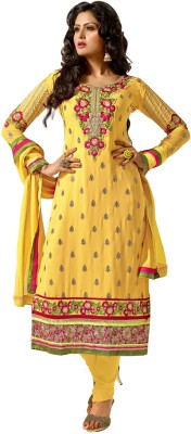 Florence Chiffon Embroidered Salwar Suit Dupatta Material