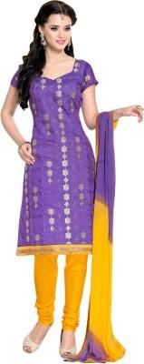 Vastrani Chanderi Embroidered Dress/Top Material