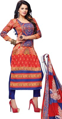 Pushpanjali Fashion Hub Wool Printed Salwar Suit Dupatta Material