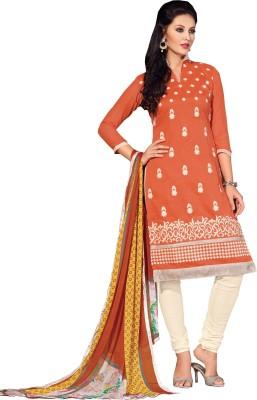 Jayanti Sarees Chanderi Embroidered Salwar Suit Dupatta Material