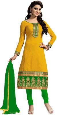 Ambika Epic Creation Chanderi Embroidered, Self Design Semi-stitched Salwar Suit Dupatta Material