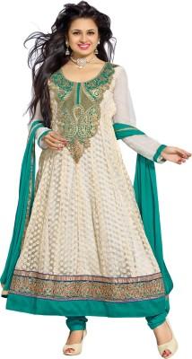 Parvati Fabrics Cotton Self Design Semi-stitched Salwar Suit Dupatta Material