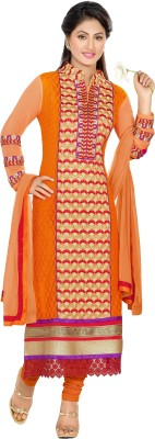 MF Net Embroidered Salwar Suit Dupatta Material