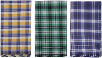 Sahyog Cotton Polyester Blend Checkered Shirt Fabric, Kurti Fabric, Shirt & Trouser Fabric(Un-stitched)