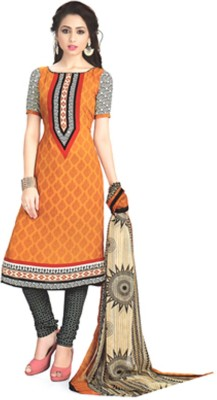 BANYAD Synthetic Printed Semi-stitched Salwar Suit Dupatta Material