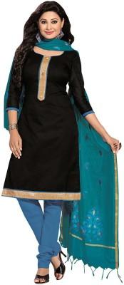Desi Look Jacquard Solid Semi-stitched Salwar Suit Dupatta Material