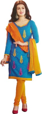 Mankarsh Synthetic Printed Salwar Suit Dupatta Material