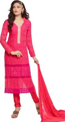 Shreeji Fashion Chiffon Embroidered Salwar Suit Dupatta Material