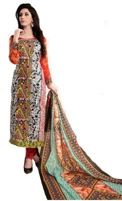 Sai Cotton Self Design Salwar Suit Dupatta Material