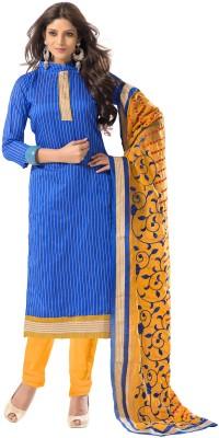 Livaaz Chanderi Floral Print Salwar Suit Dupatta Material