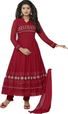Jassu Fashion Hub Chiffon Self Design Semi-stitched Salwar Suit Dupatta Material