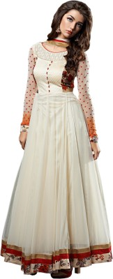 Fashion4masti Georgette Embroidered Salwar Suit Dupatta Material
