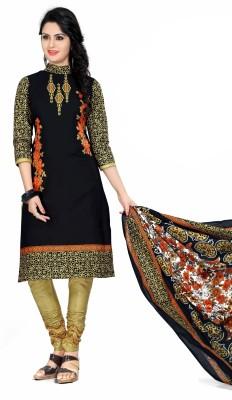 Jay Ganapati Synthetic Printed Salwar Suit Dupatta Material