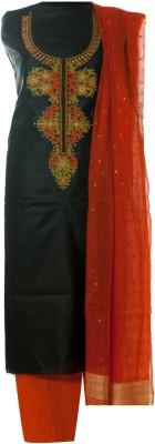 Poshakh Silk Embroidered Salwar Suit Dupatta Material
