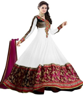 Dev Design Georgette Embroidered Semi-stitched Salwar Suit Dupatta Material
