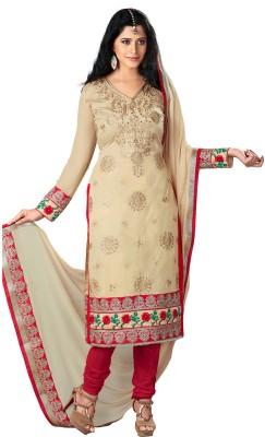 Value Added Fashion Chanderi Self Design Semi-stitched Salwar Suit Dupatta Material
