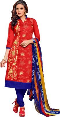 Shonaya Chanderi Embroidered Salwar Suit Dupatta Material