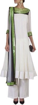 Fashion Fiza Georgette Solid Semi-stitched Salwar Suit Dupatta Material