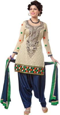 The Fashion World Chanderi Embroidered Dress/Top Material